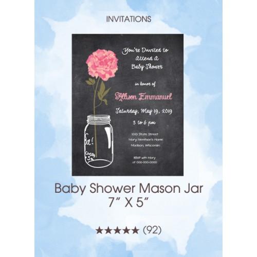Invitations - Baby Shower Mason Jar