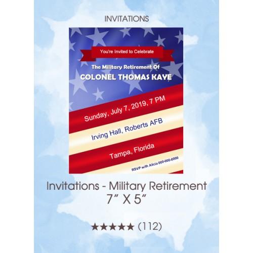 Invitations - Military Retirement