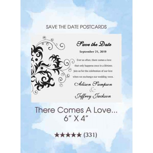 There Comes A Love...Save the Date Postcards