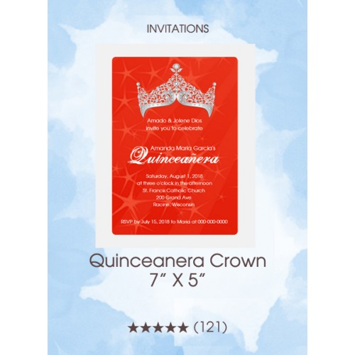 Invitations - Quinceanera Crown