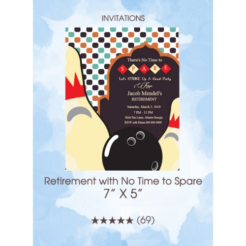 Invitations - Retirement with No Time to Spare