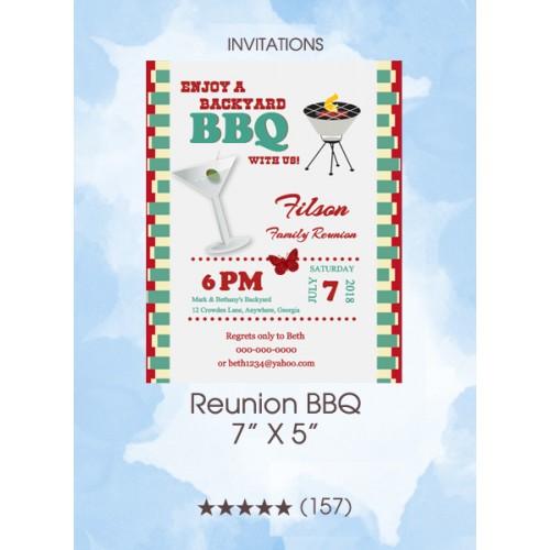 Invitations - Reunion BBQ