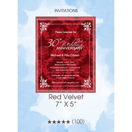 Invitations - Red Velvet Anniversary