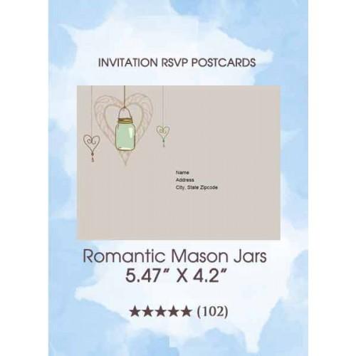 RSVP Postcards - Romantic Mason Jars