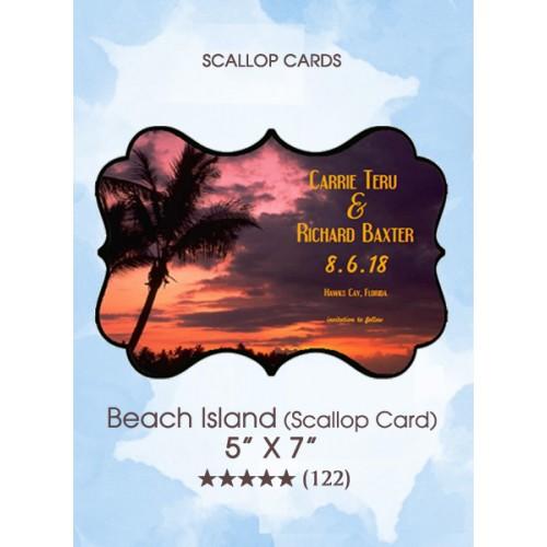 Save the Dates - BeachIsland (Scallop Card)