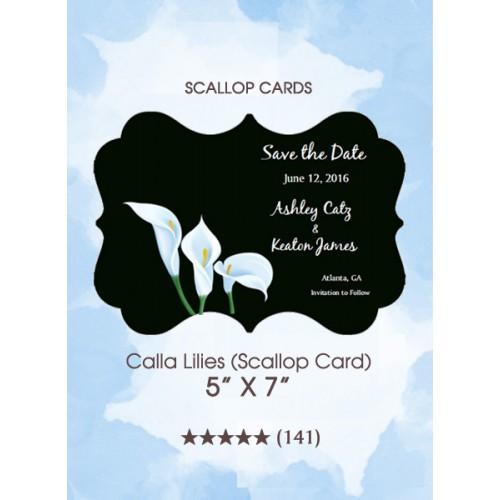 Save the Dates - Calla Lilies (Scallop Card)