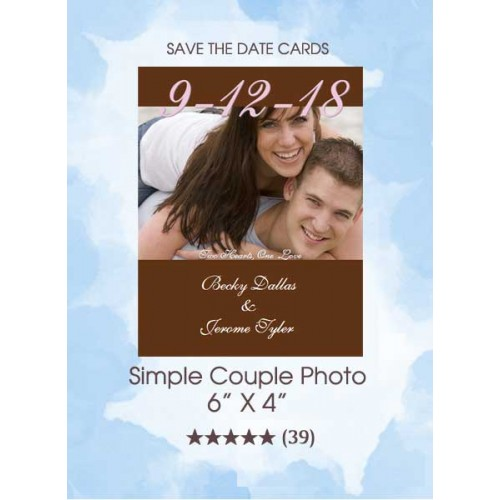 Save the Dates - Simple Couple Photo