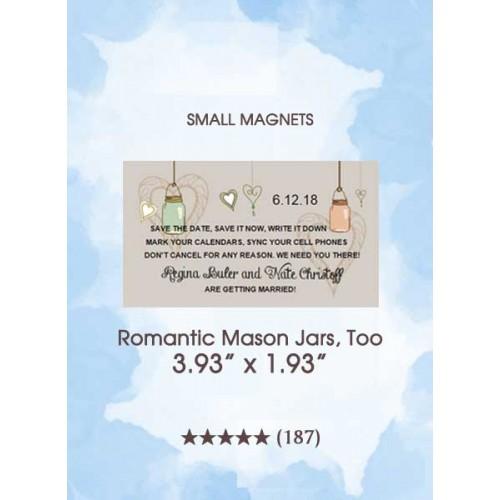 Save the Dates - Romantic Mason Jars, Too