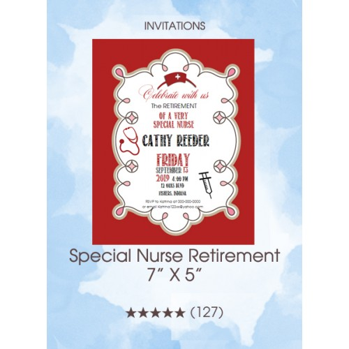 Invitations - Special Nurse Retirement