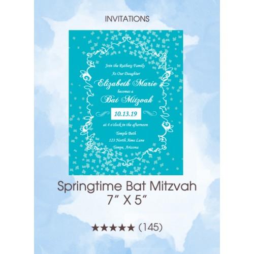 Invitations - Springtime Bat Mitzvah