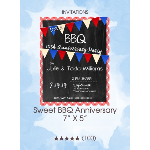 Invitations - Sweet BBQ Anniversary