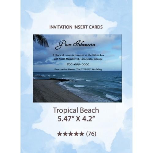 Tropical Beach - Insert Cards