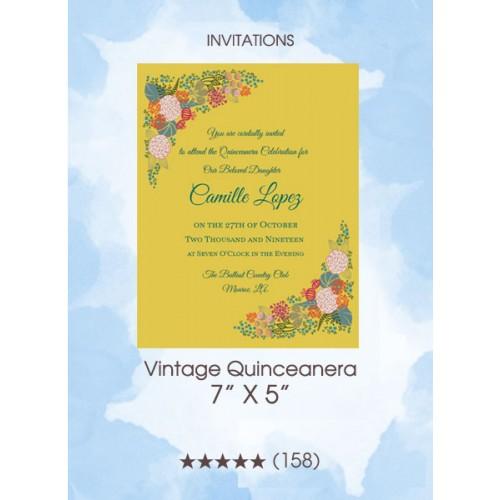 Vintage Quinceanera - Invitations
