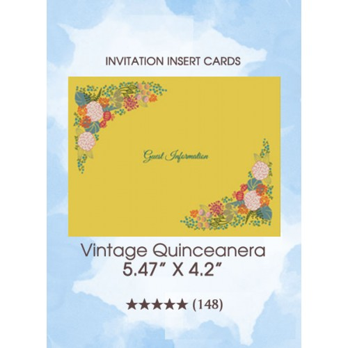 Vintage Quinceanera - The Insert Cards