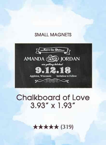Chalkboard Save The Date Too Small Magnets