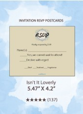 Isn't It Loverly - RSVP Postcards