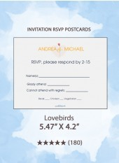 Lovebirds - RSVP Postcards