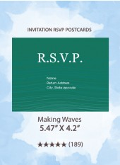 Making Waves - RSVP Postcards