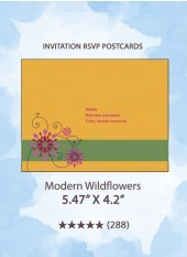 Modern Wildflowers - RSVP Postcards