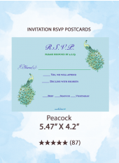 Peacock - RSVP Postcards
