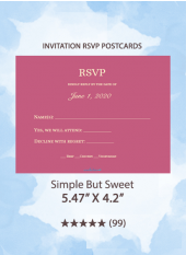 Simple But Sweet - RSVP Postcards