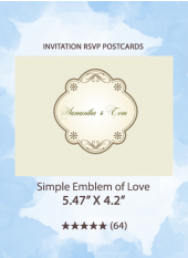 Simple Emblem of Love - RSVP Postcards
