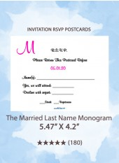 The Married Last Name Monogram - RSVP Postcards