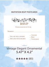 Vintage Elegant Ornamental - RSVP Postcards