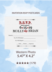 Western Photo - RSVP Postcards