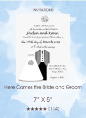 Invitation - Here Comes the Bride and Groom