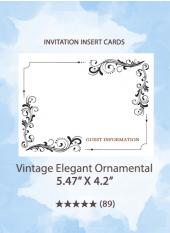 Vintage Elegant Ornamental - Insert Cards