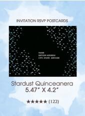 Stardust Quinceanera - RSVP Postcards