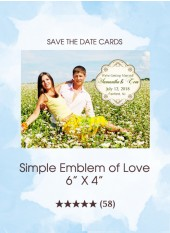 Save the Dates - Simple Emblem of Love