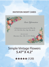 Simple Vintage Flowers - Insert Cards