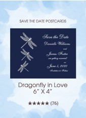 Save the Dates - Dragonfly in Love