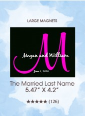Save the Dates - The Married Last Name Monogram