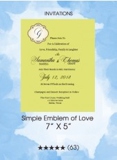 Invitations - Simple Emblem of Love