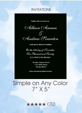 Invitations - Simple on Any Color