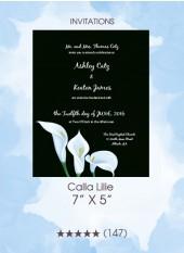 Invitations - Calla Lilies