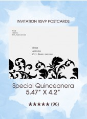 Special Quinceanera - RSVP Postcards