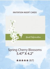 Spring Cherry Blossoms - Insert Cards