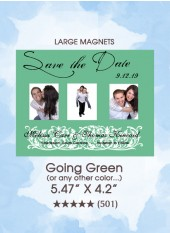 Save the Dates - Going Green Magnets