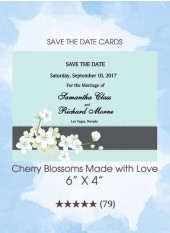 Save the Dates - Cherry Blossoms Made With Love