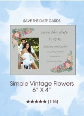 Save the Dates - Simple Vintage Flowers