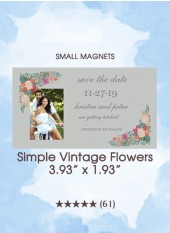Save the Dates - Simple Vintage Flowers, Too