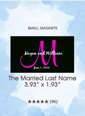 Save the Dates - The Married Last Name Monogram, Too