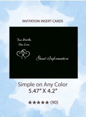 Simple on Any Color - Insert Cards