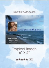 Save the Dates - Tropical Beach