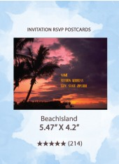 BeachIsland - RSVP Postcards