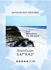 BeachOcean - RSVP Postcards